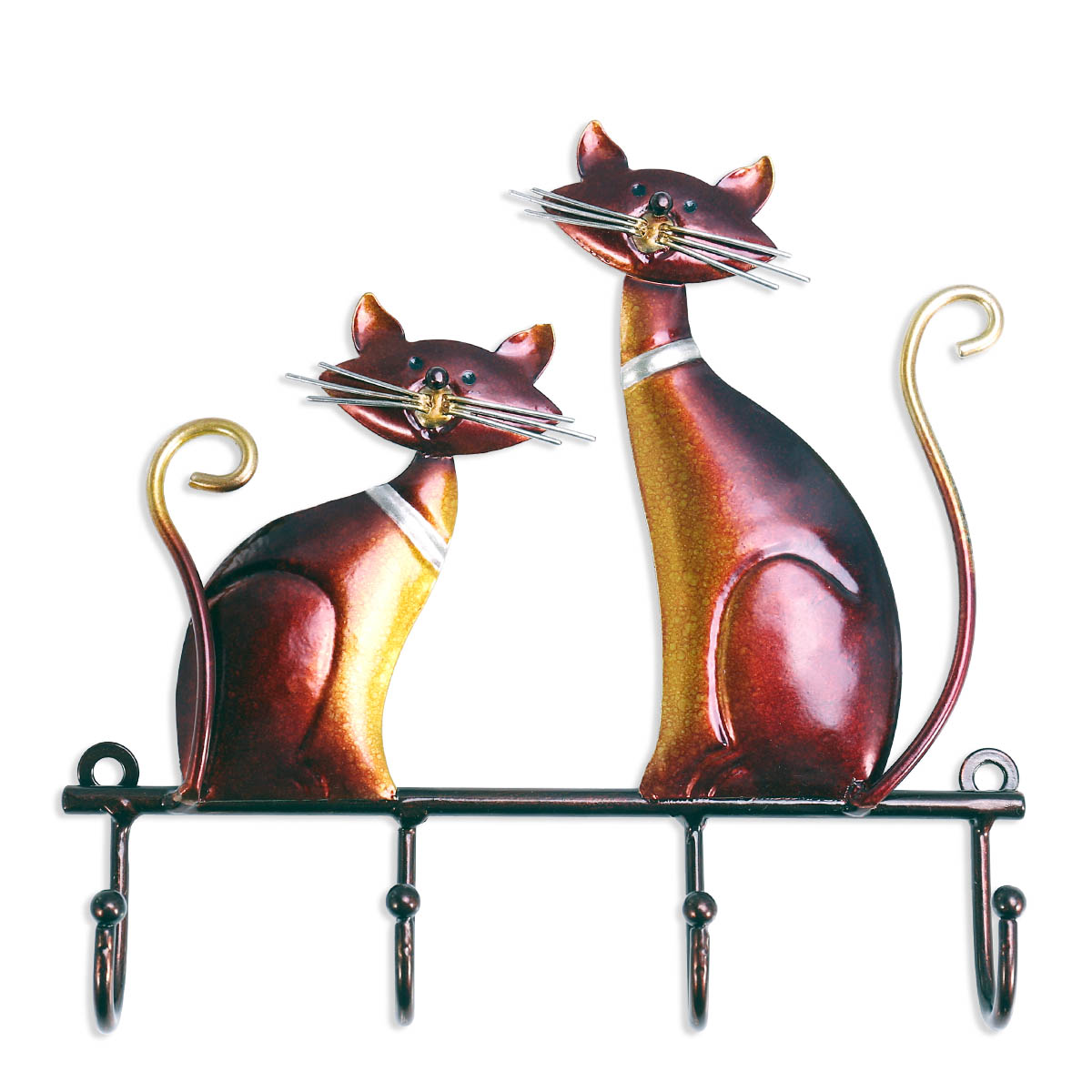 best and cheap wine red tooarts iron cat wall hanger hook decor 4 hooks for coats bags wall. Black Bedroom Furniture Sets. Home Design Ideas