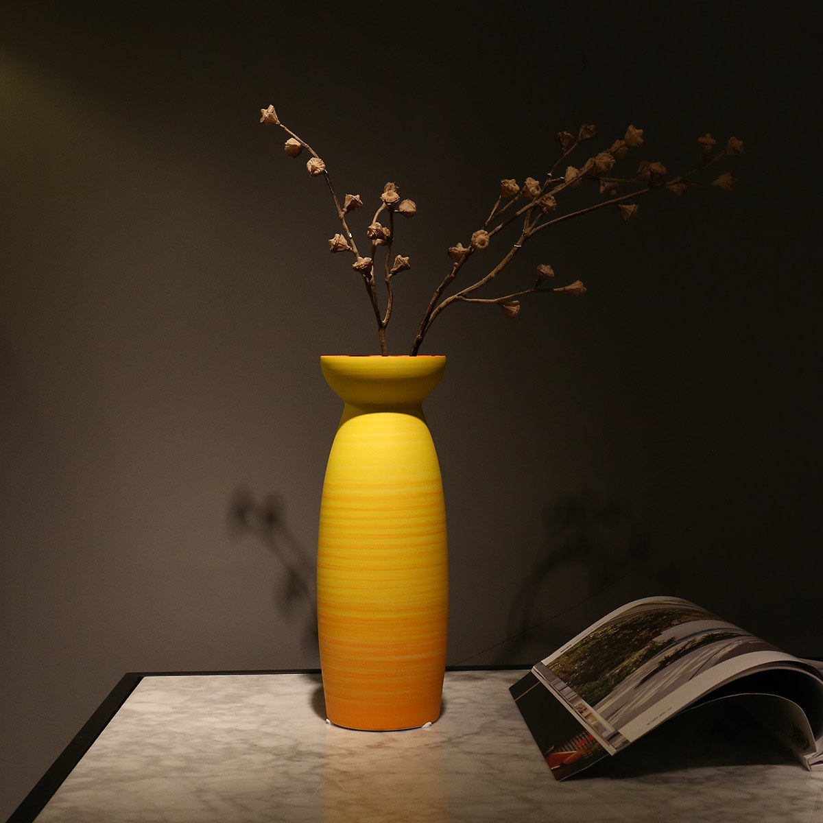 Best And Cheap Yellow Flower Vase Ceramic Yellow Flower Vase