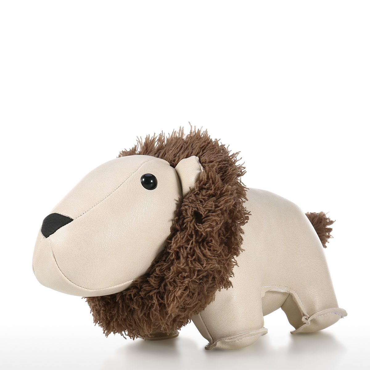 Best And Cheap Black Grey Leather Lion Door Stopper Animal Toys