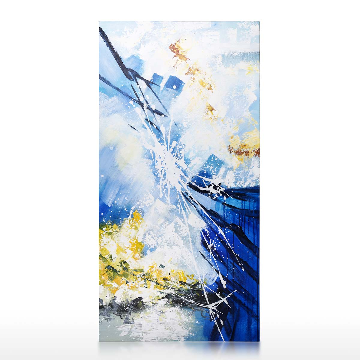 Paysage De Forêt Peinture à L Huile Mur Art Peint à La Main Peinture à L Huile Sur Toile Abstraite Oeuvre