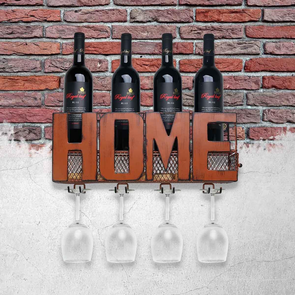 Best And Cheap Orange Wall Mounted Wine Rack Cork Storage