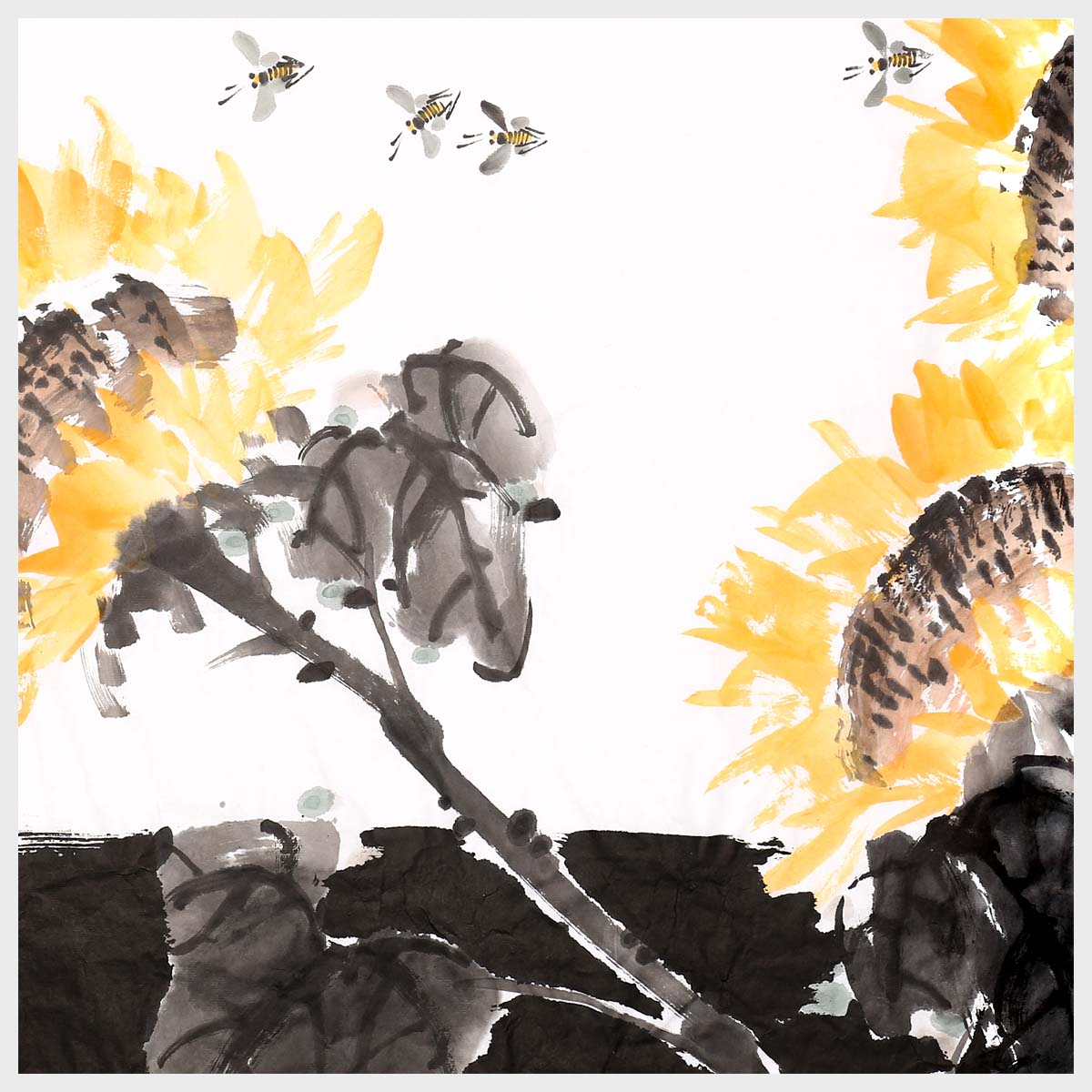 Sunflower Wall Art Pictures Paintings Ready to Hang for Living Room Bedroom  Home Office Decorations