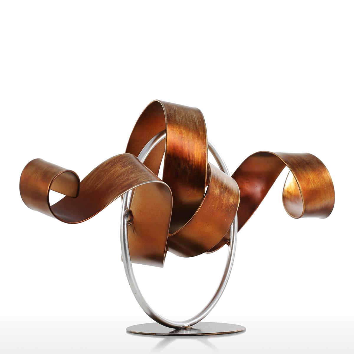 Tooarts Wriggle Sculpture Moderne Sculpture Abstraite Sculpture En M/étal Fer D/écor /À La Maison Int/érieur-Ext/érieur D/écor