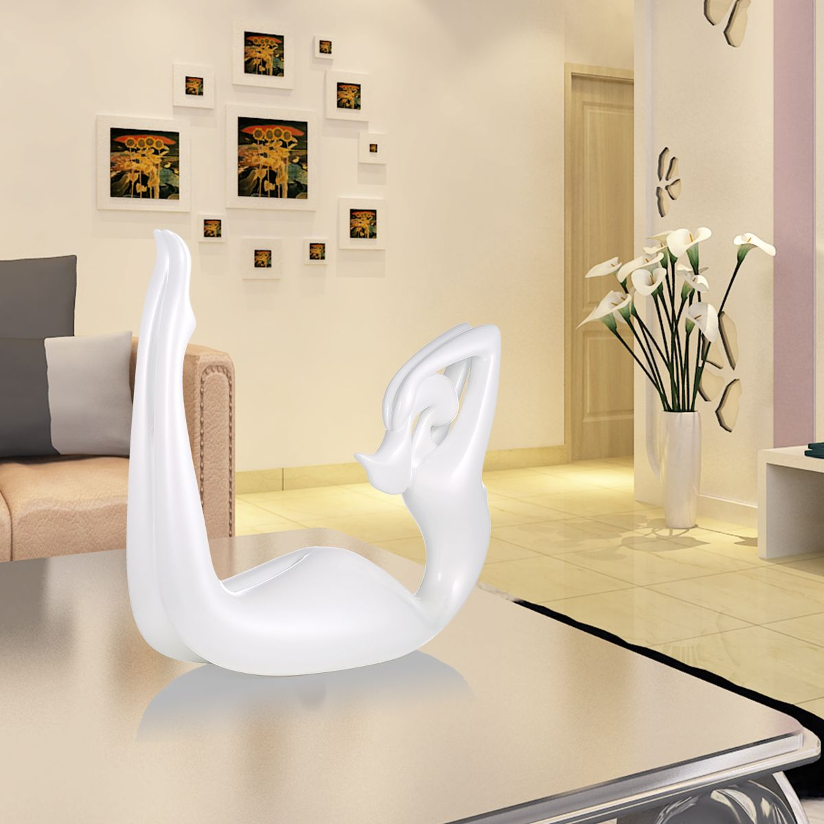 Best and cheap white Tomfeel Dance-- Bend Back Resin Sculpture Home ...