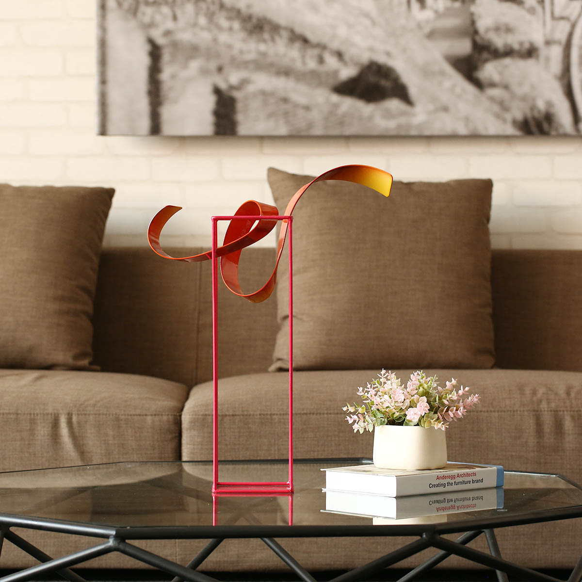Schon Bud Freistehende Skulptur Abstrakte Indoor / Outdoor Moderne Metall  Skulptur Tisch U0026 Schreibtisch Dekor Zeitgenössische Herzstück