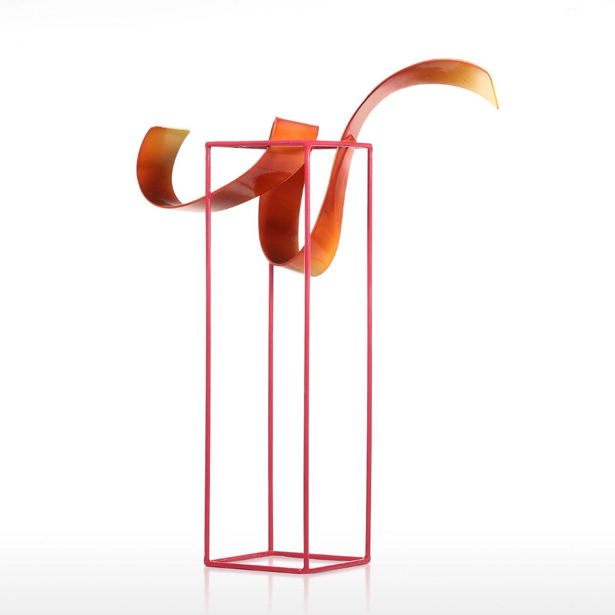Bud Freistehende Skulptur-Abstrakte Indoor / Outdoor Moderne Metall ...