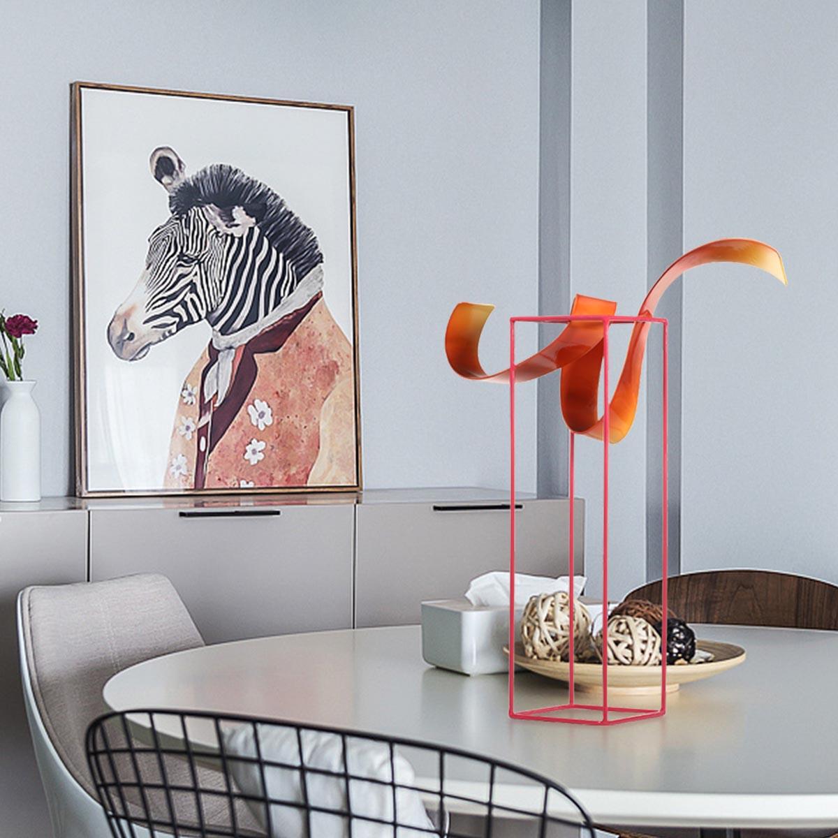 Bud Freistehende Skulptur Abstrakte Indoor / Outdoor Moderne Metall  Skulptur Tisch U0026 Schreibtisch Dekor Zeitgenössische Herzstück
