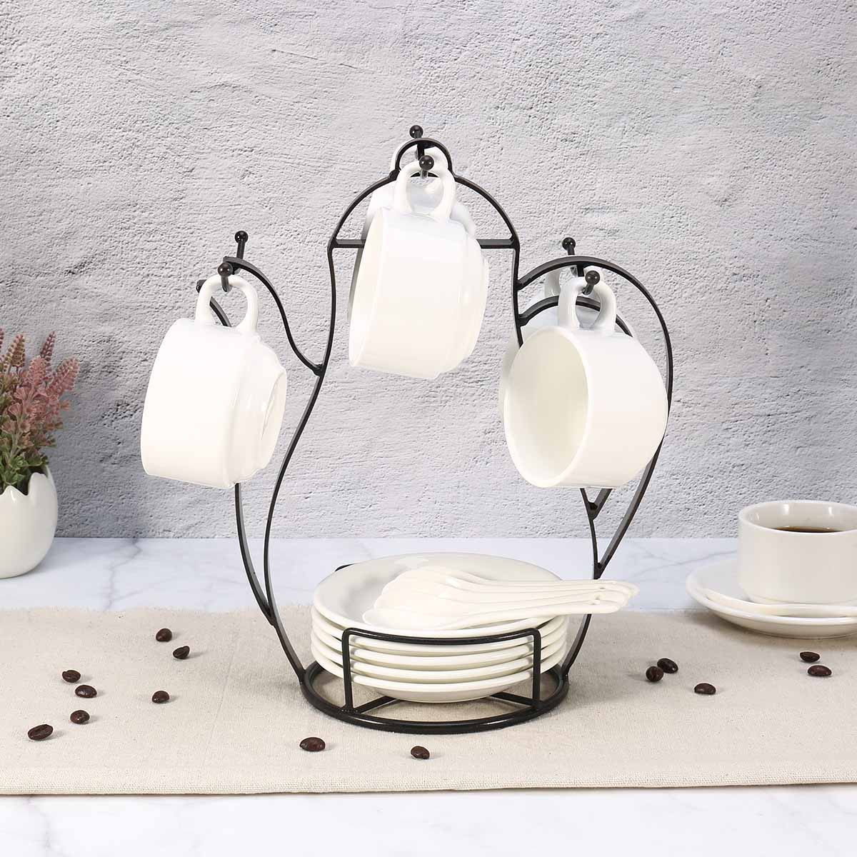 Best and cheap black Kettle-shaped Coffee Mug Tree Holder Countertop ...