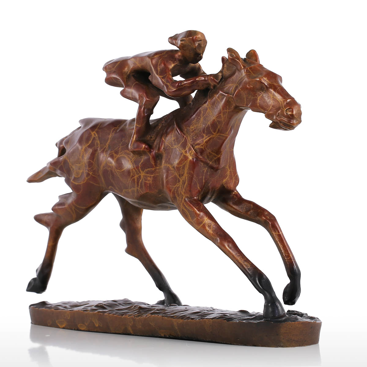 Best And Cheap Brown Tomfeel Horse Racing Modern Bronze