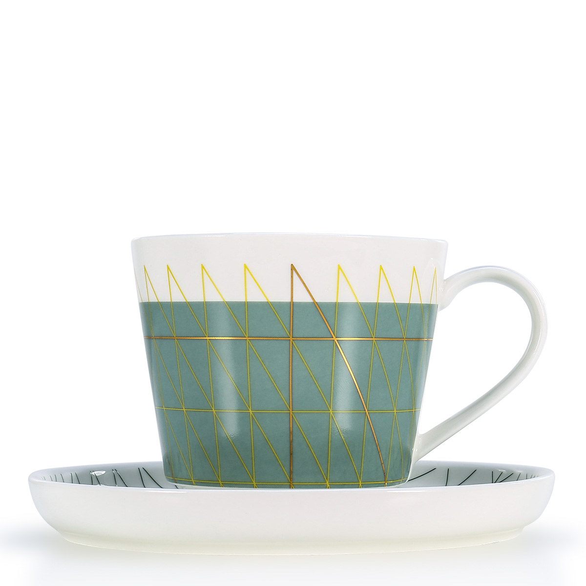 Coffee Cup And Saucer Teacup Set Microwave Safe Or Espresso