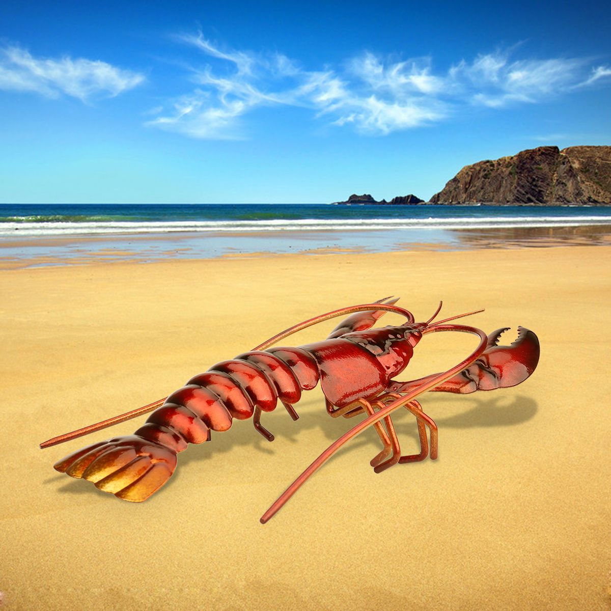 Best and cheap red Tooarts Lobster Ornament Lifelike Animal Sculp ...