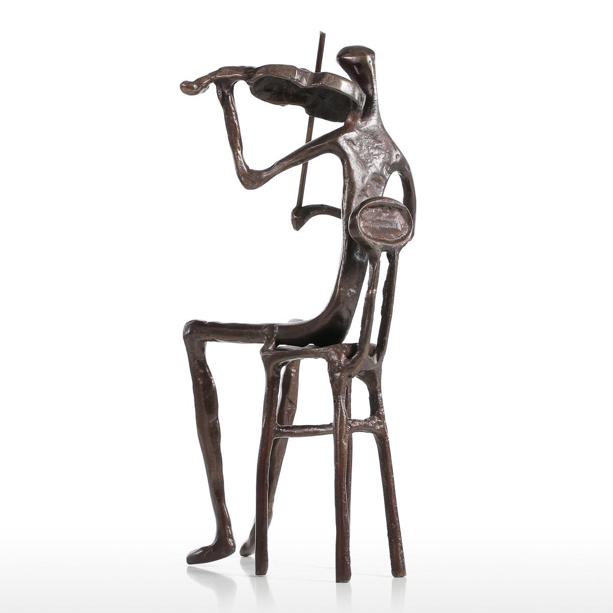 best and cheap bronze violin playing modern performance bronze  - violin playing modern performance bronze sculpture metal sculpture homedecor art gift