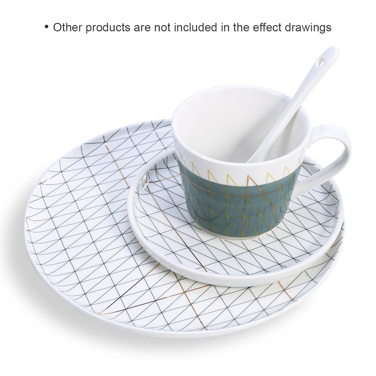 Best and cheap white Ceramic Plate Livingware Dinner Serving Plate  Porcelain Dishes Microwave Safe Dishwasher Safe Plate - Tooarts com