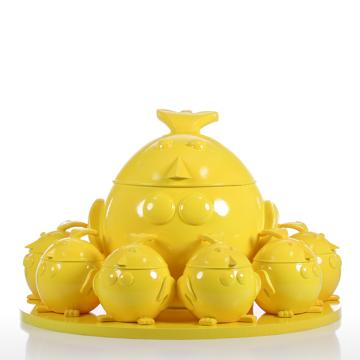 Best and cheap yellow Tomfeel Cartoon Chicken Family Resin Sculpture ...