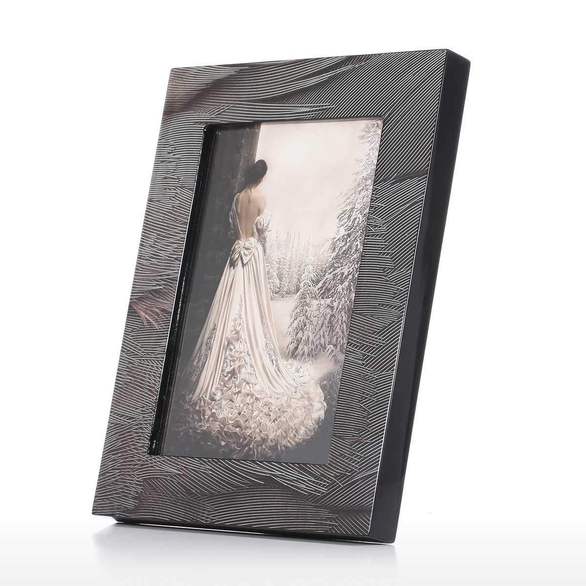 Mejor y barato Marco de fotos con textura Plume Piano de madera para ...