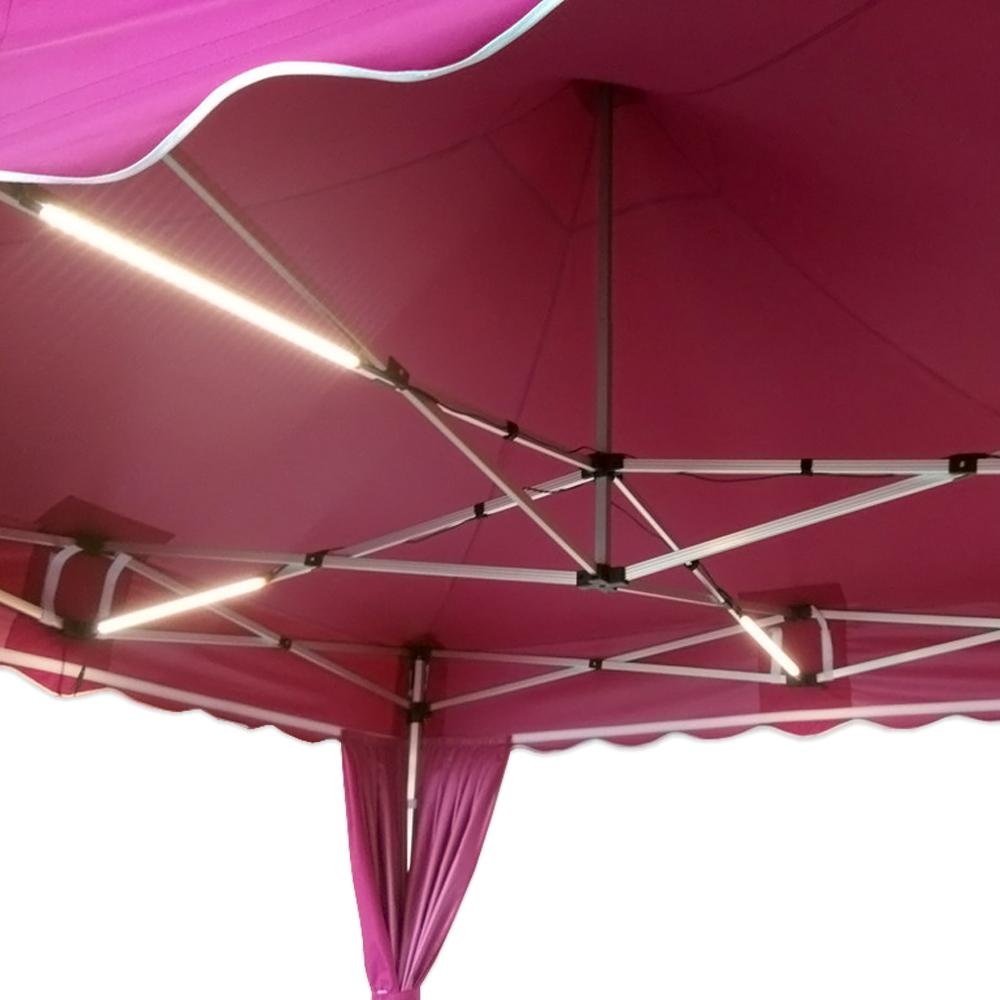 Lampe Exterieur Pour Tonnelle kit modulable d'éclairage - 4 barres led pour tente pliante