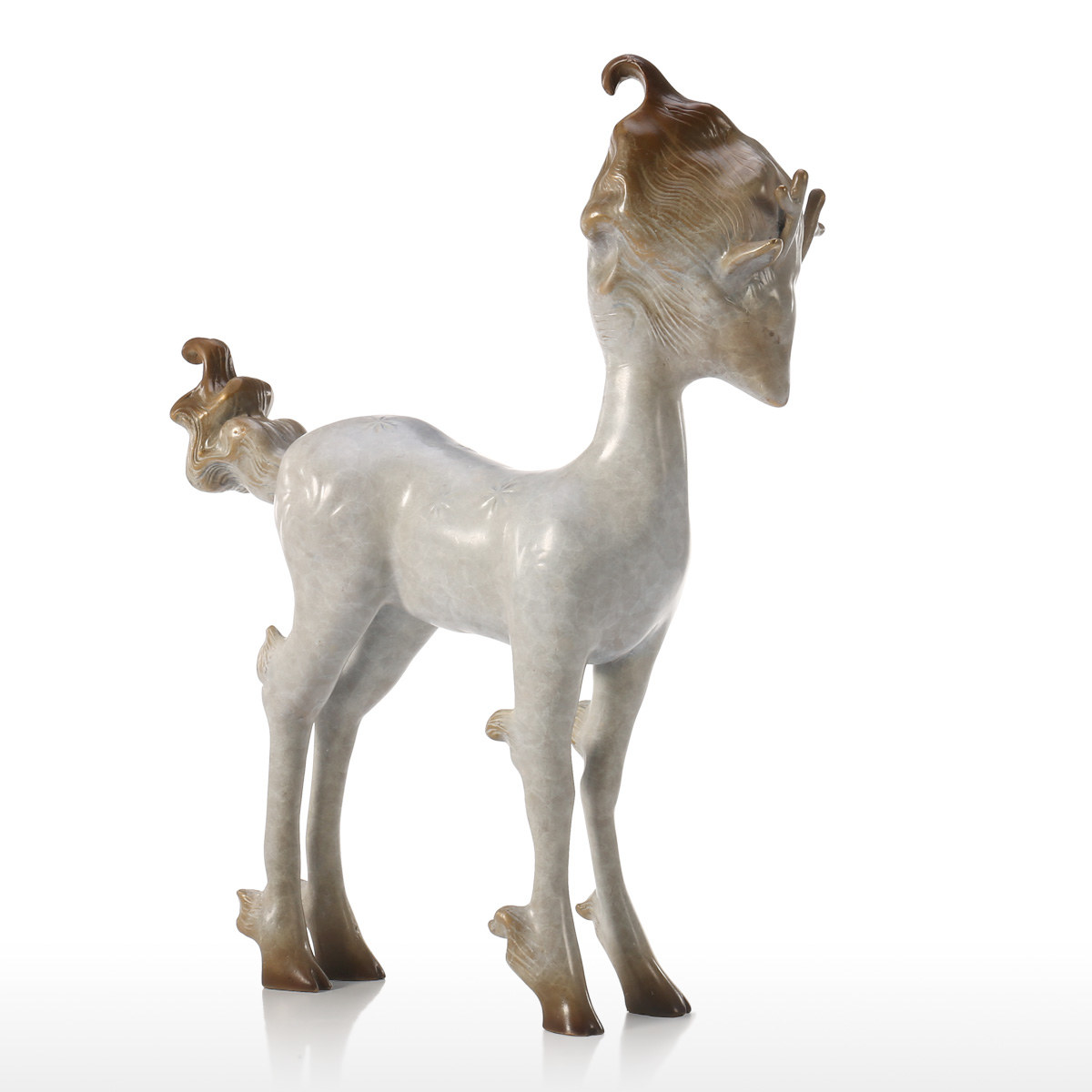 Best and cheap grey Fairy Deer Bronze Sculpture Animal ...