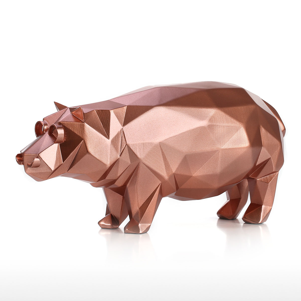 Best And Cheap Golden Hippo Modern Sculpture Resin