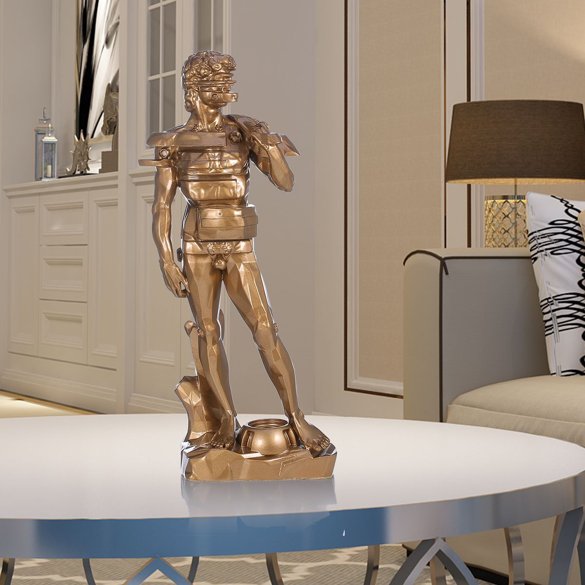 Sculpture Home Decor: Best And Cheap Golden Tomfeel David With Drawer Resin