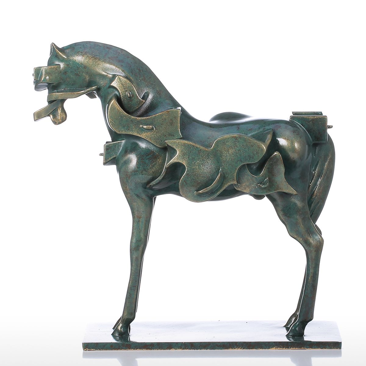 Tomfeel Surrealism Horse Resin Sculpture Home Decor Modern Art Figurine