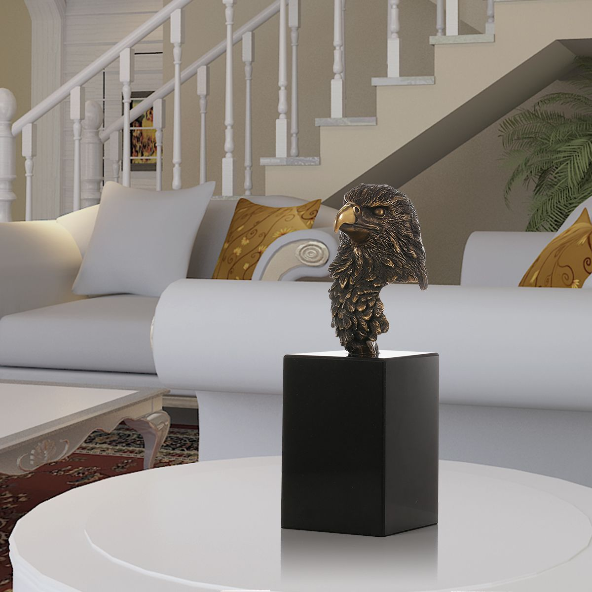 Affordable Marble Home Decor: Best And Cheap Bronze Marble Base Eagle Hawk Handmade