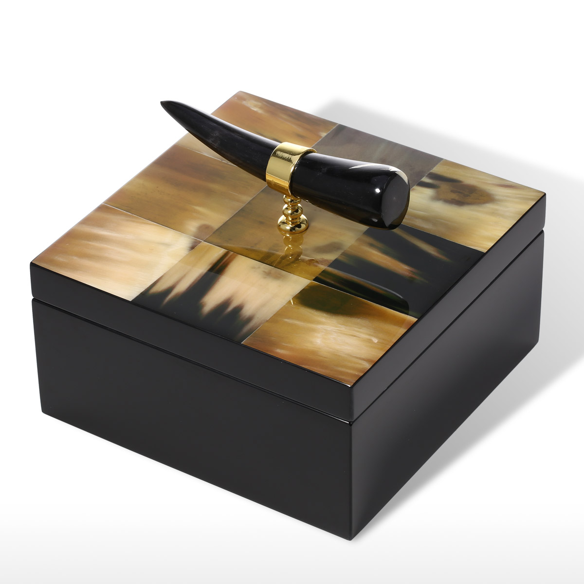best and cheap bedroom square jewelry box with horn stripes wooden jewelry display ring necklace. Black Bedroom Furniture Sets. Home Design Ideas
