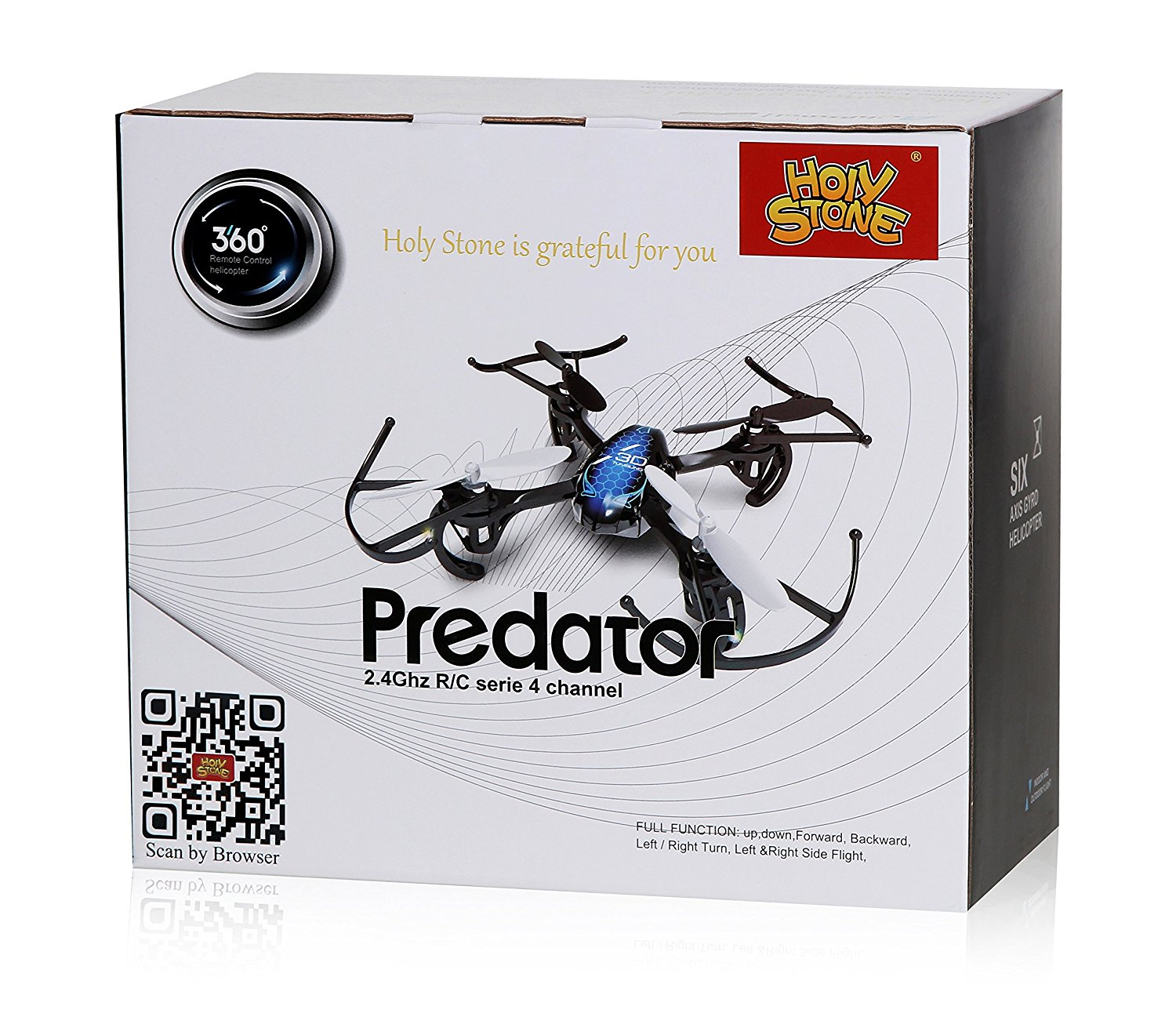 us Holy Stone HS170 Predator Mini RC Helicopter Drone 2 4Ghz 6-Axis Gyro 4  Channels Quadcopter Good Choice for Drone Training - RcMoment com