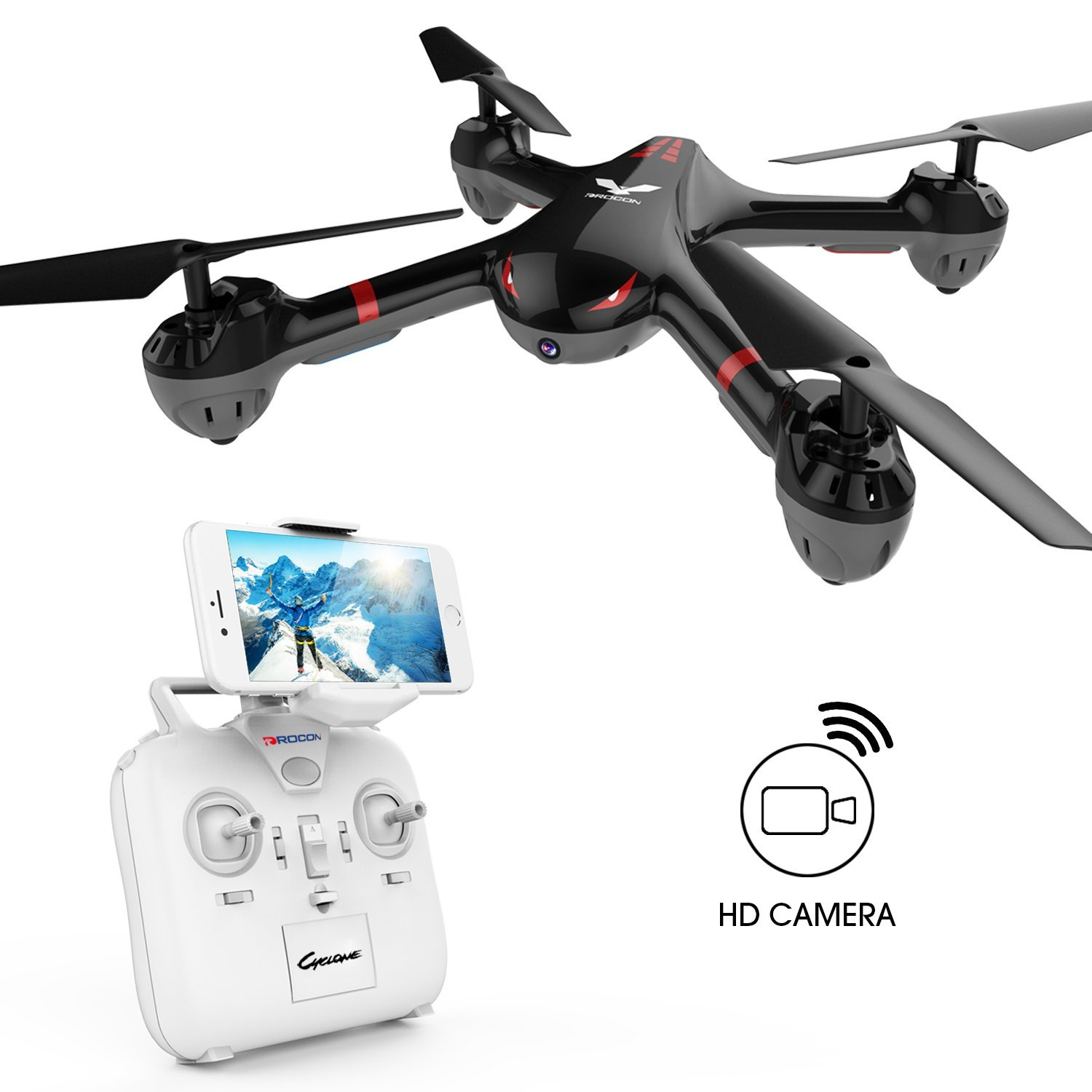 Get 6$ off for DROCON Drone For Beginners  Wi-Fi Fpv Training Quadcopter  Only 99.99$ with code  X708W+