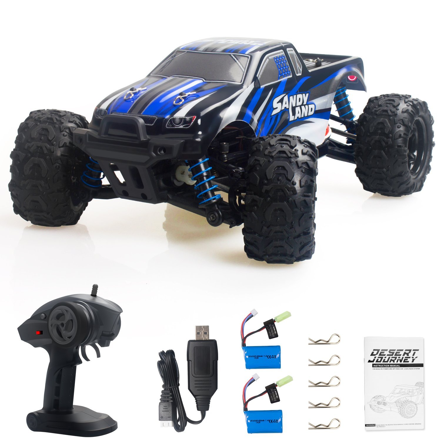 Get 10$ off  fro Terrain Electric Remote Control Off Road Monster Truck 1:18 Scale 2.4Ghz Radio 4WD Fast 30+  Only 149.99$ with code  MT118+