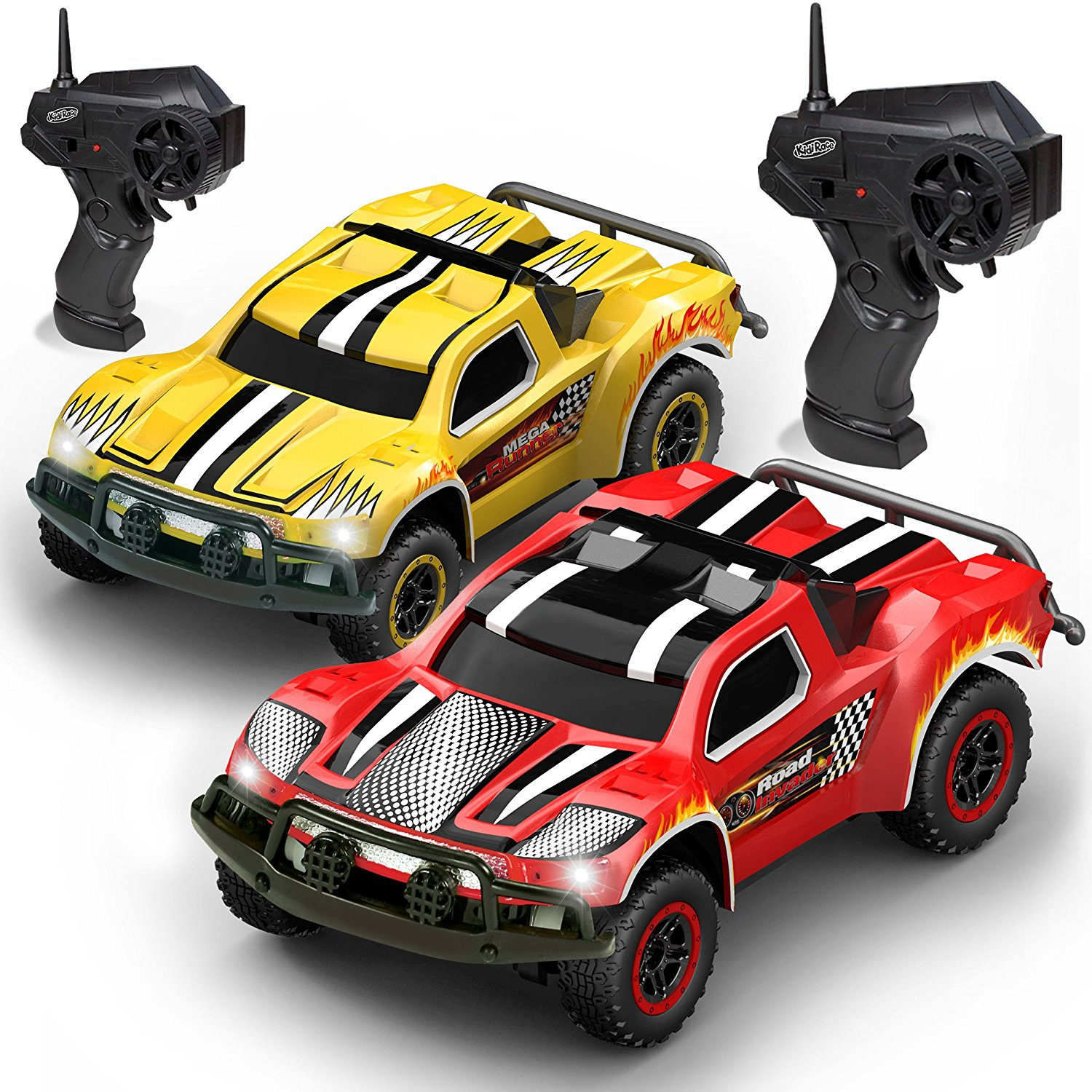 5336e08814b6 Remote Control Car -2 Mini RC Racing Coupe Cars - With Rechargeable  Batteries and Wall Chargers