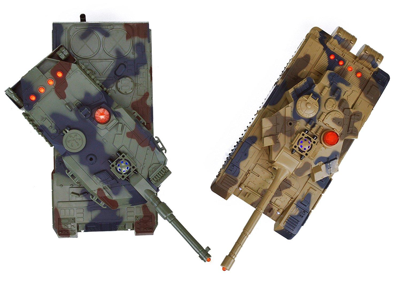 Us Dynasty Toys Laser Tag Tanks Led Battling Tanks Toys