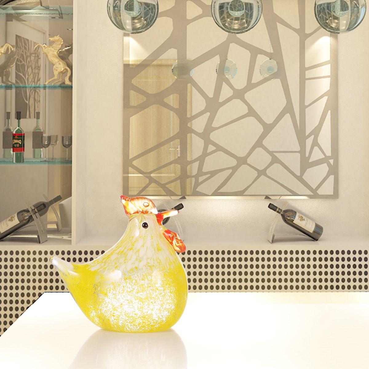 Best and cheap glass yellow Small Chicken Glass Sculpture Home Decor ...