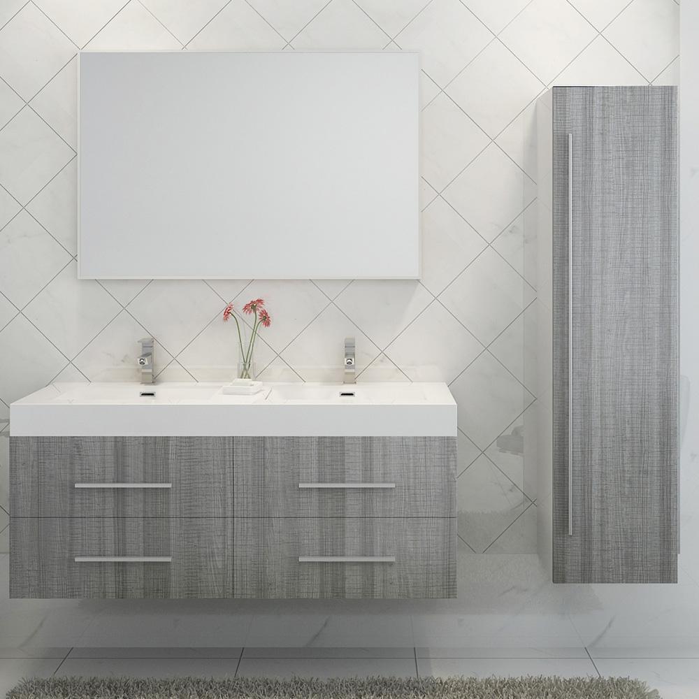 Salle De Bain Double G ~ ensemble de salle de bain double vasque noir