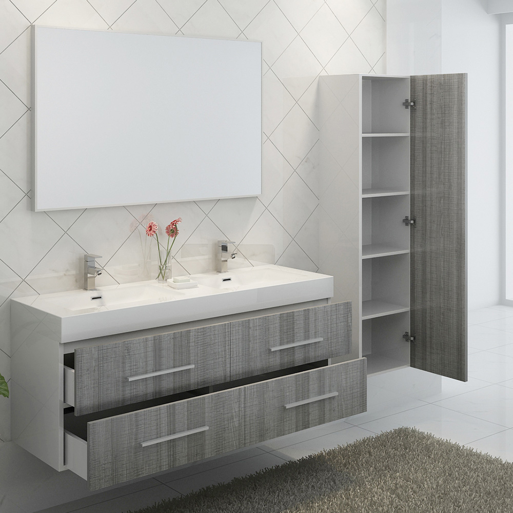 Petite Salle De Bain Chaleureuse ~ ensemble de salle de bain double vasque noir