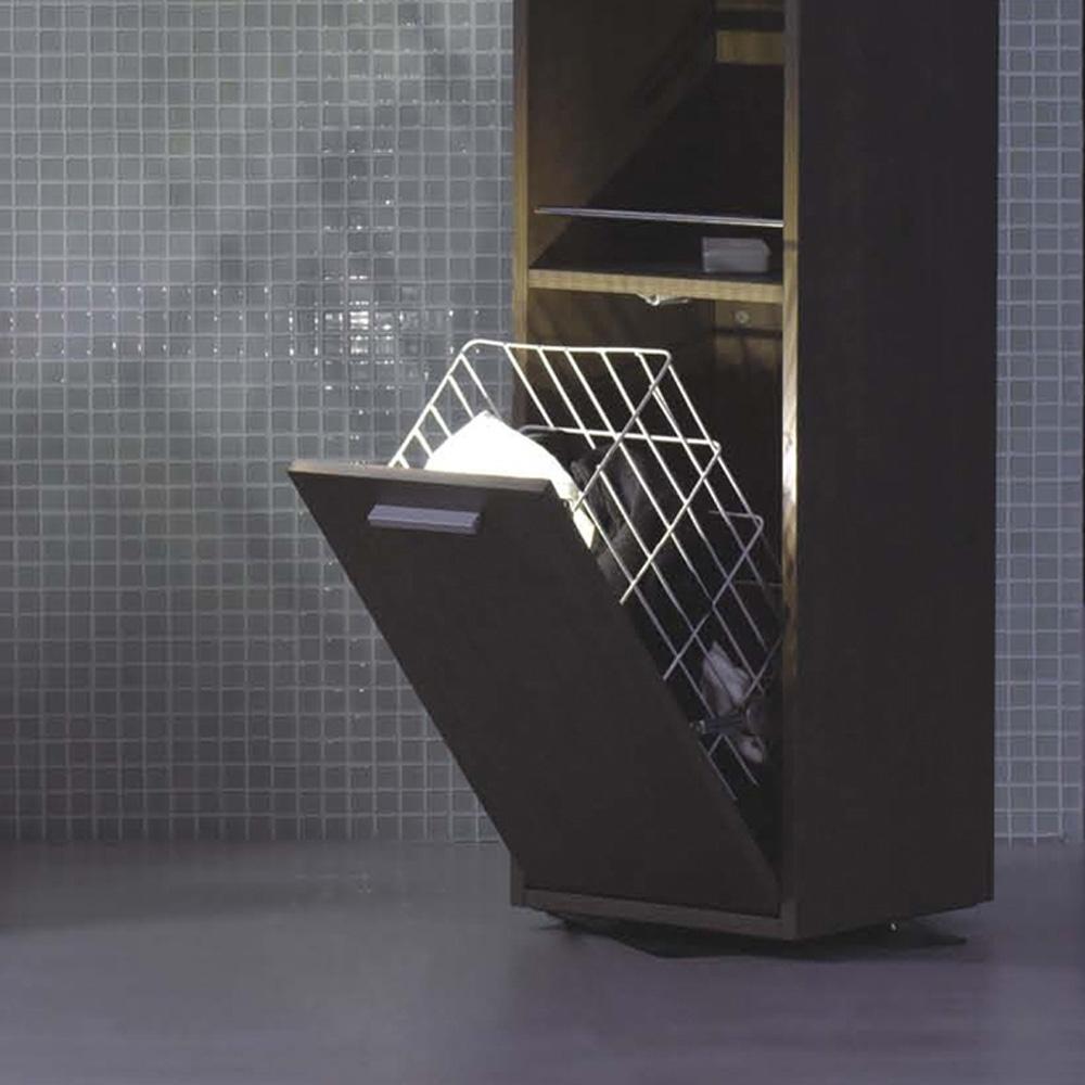 d s colonne de rangement en bois coloris brun. Black Bedroom Furniture Sets. Home Design Ideas