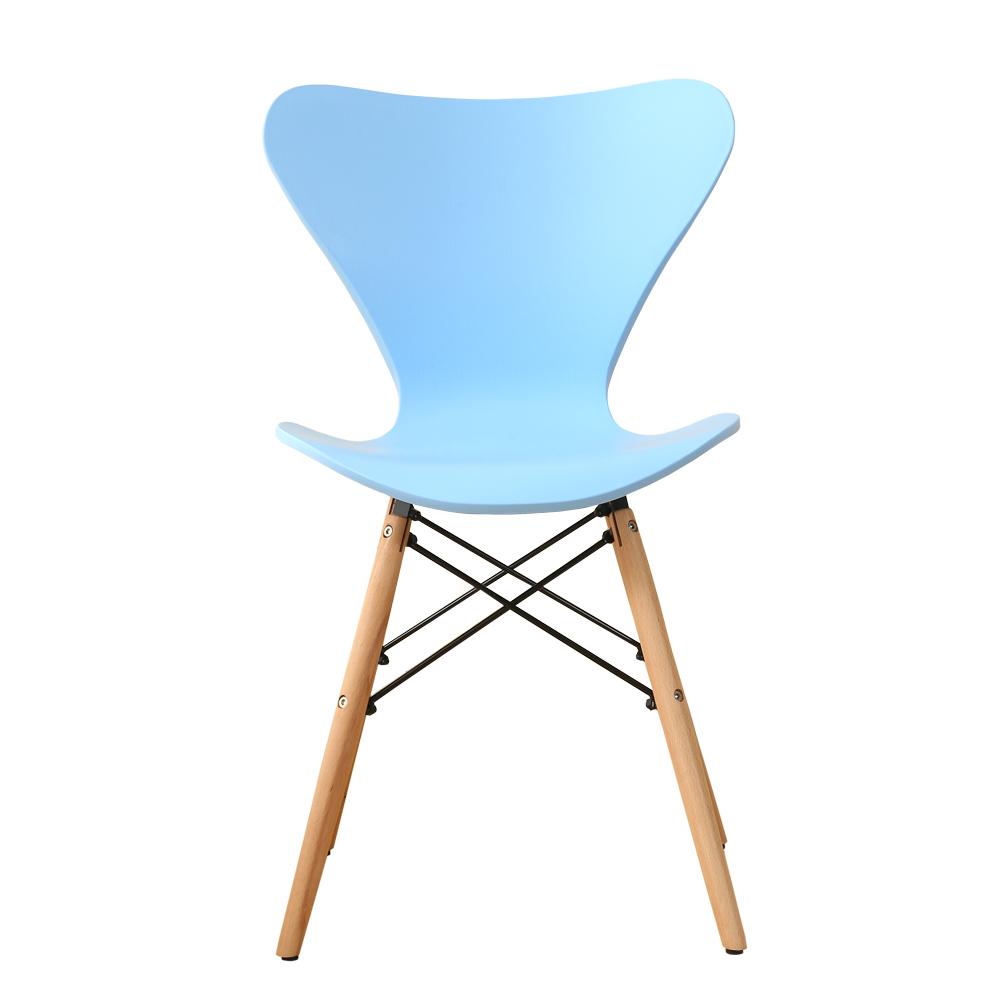 chaise de table style scandinave pieds bois blanc ou bleu. Black Bedroom Furniture Sets. Home Design Ideas