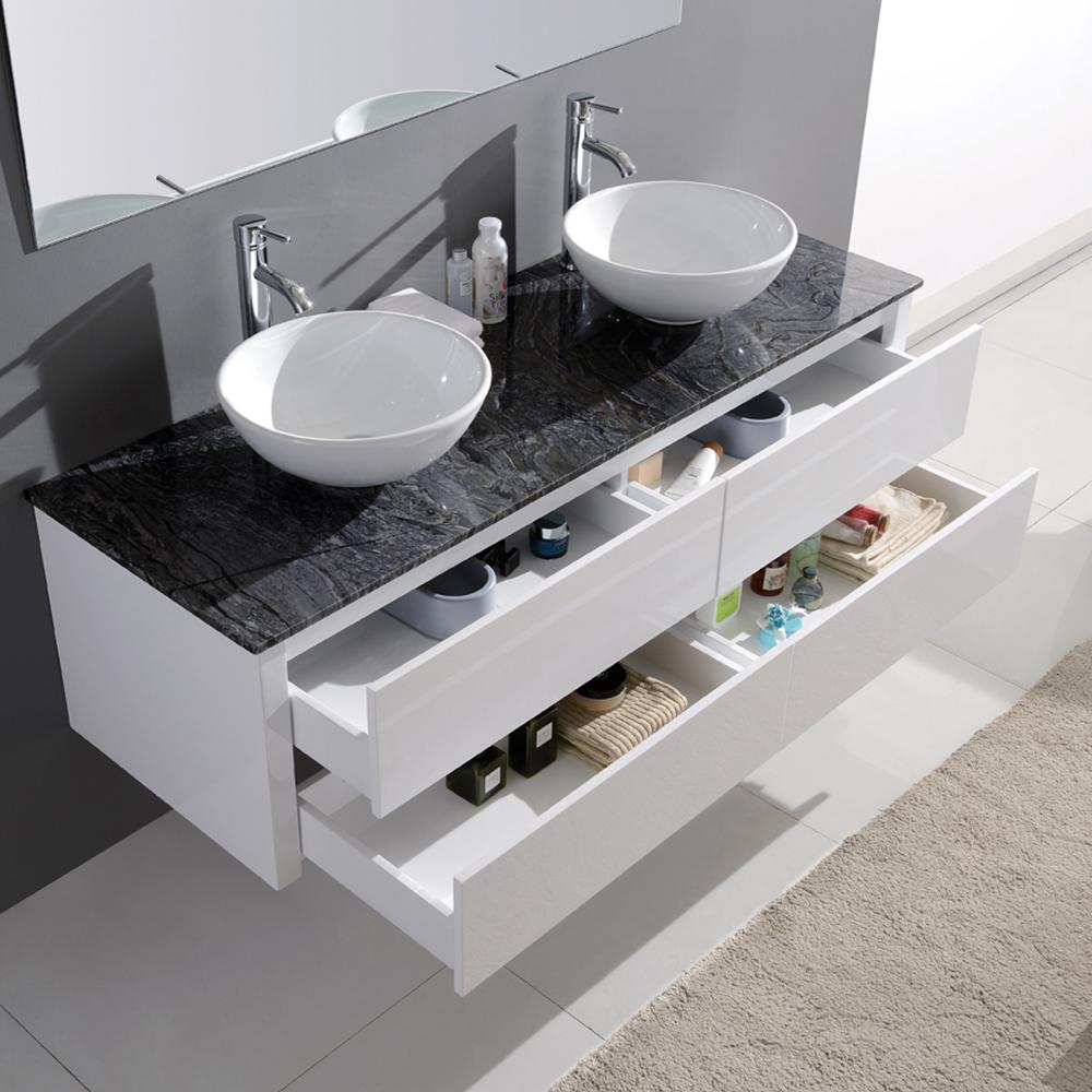 Dès 769.00€, Meuble de salle de bain double vasque design - colorie ...