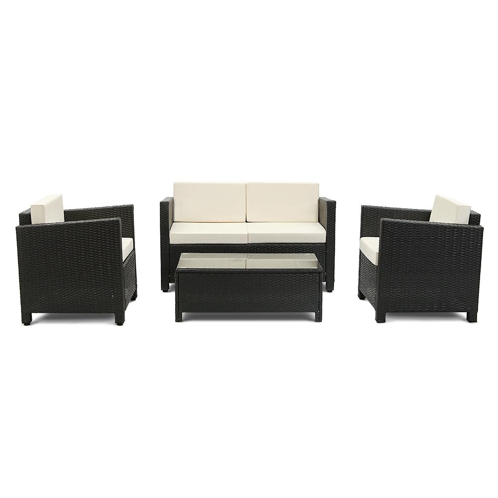 Dès 359.00€, Salon de jardin iKayaa 4 personnes – 2 fauteuils + ...