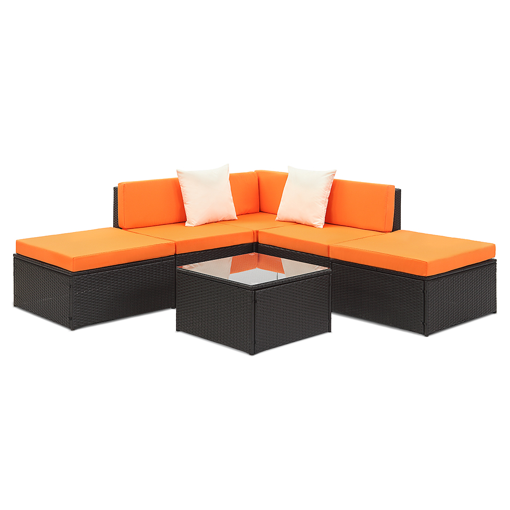 d s noir salon de jardin pour 5 personnes ikayaa 2 coloris disponible. Black Bedroom Furniture Sets. Home Design Ideas