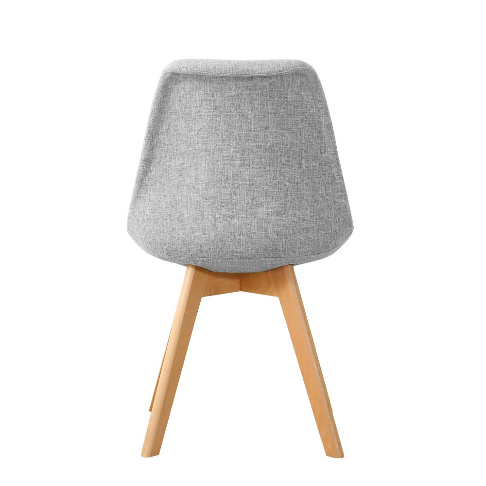 Chaise style scandinave tissu et pieds bois bleu ou gris for Chaise pliante scandinave