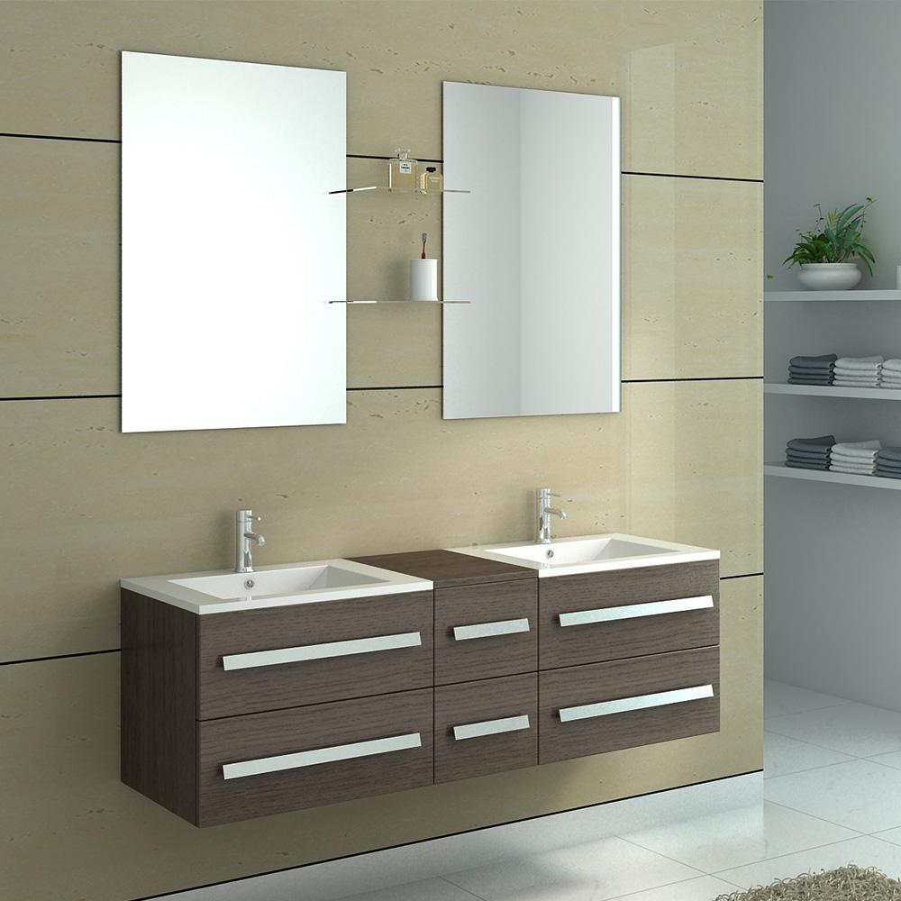 Double Salle De Bain ~ meuble de salle de bain double vasque 5 coloris disponibles nterougehome