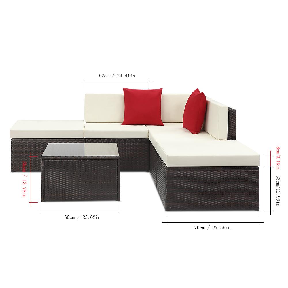 d s marron fonc salon de jardin pour 5 personnes ikayaa 2 coloris disponible. Black Bedroom Furniture Sets. Home Design Ideas