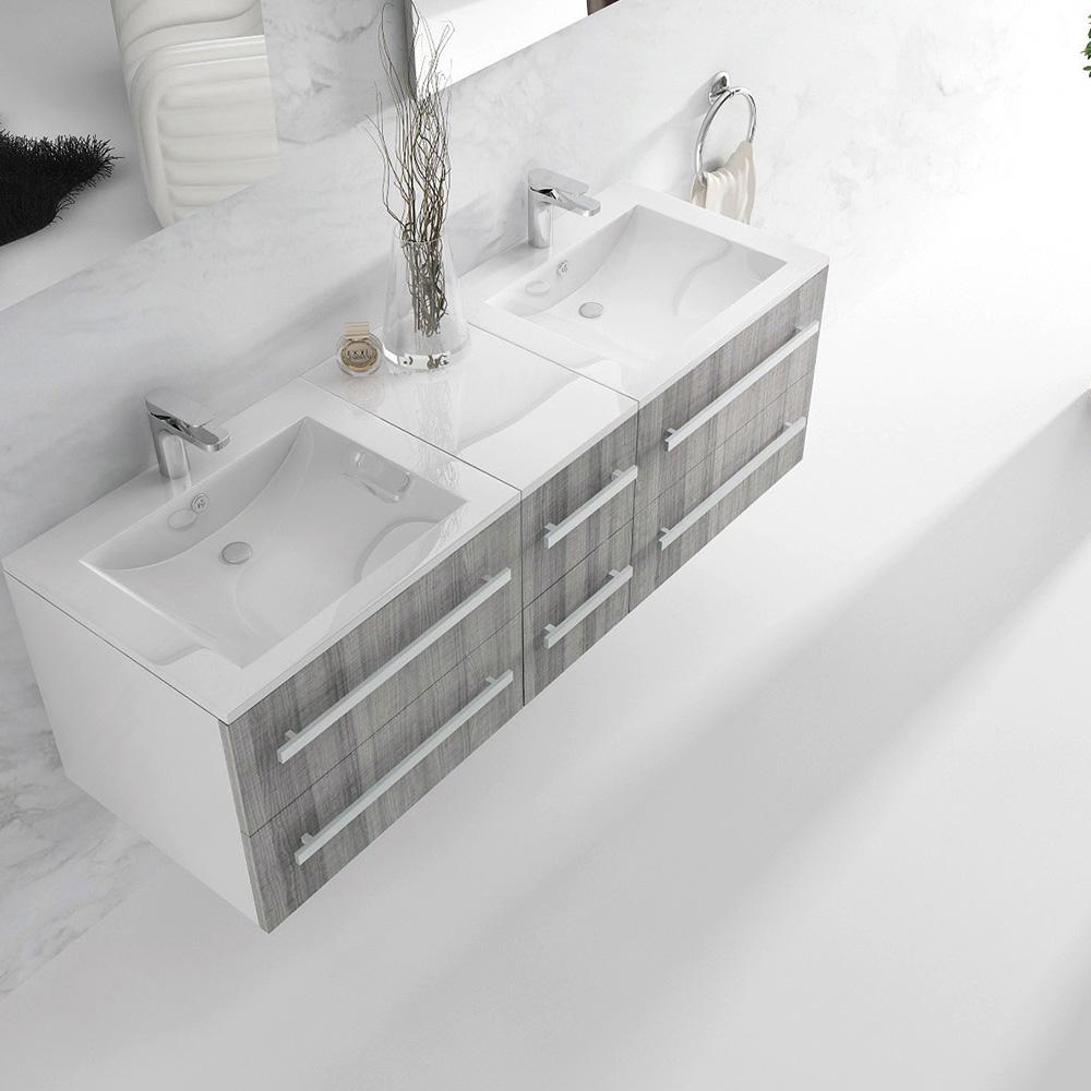 Salle De Bain Double G ~ meuble de salle de bain double vasque 5 coloris disponibles nterougehome