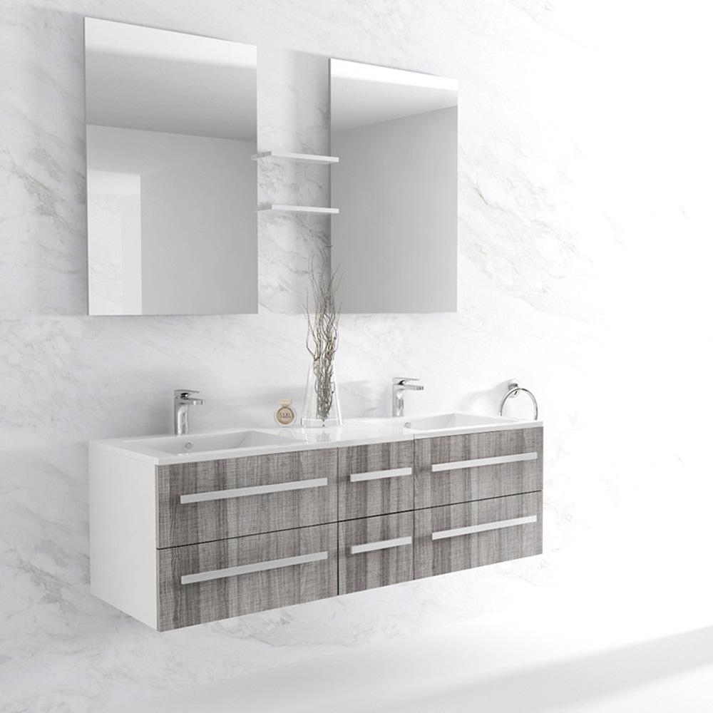 Petite Salle De Bain Chaleureuse ~ meuble de salle de bain double vasque 5 coloris disponibles nterougehome
