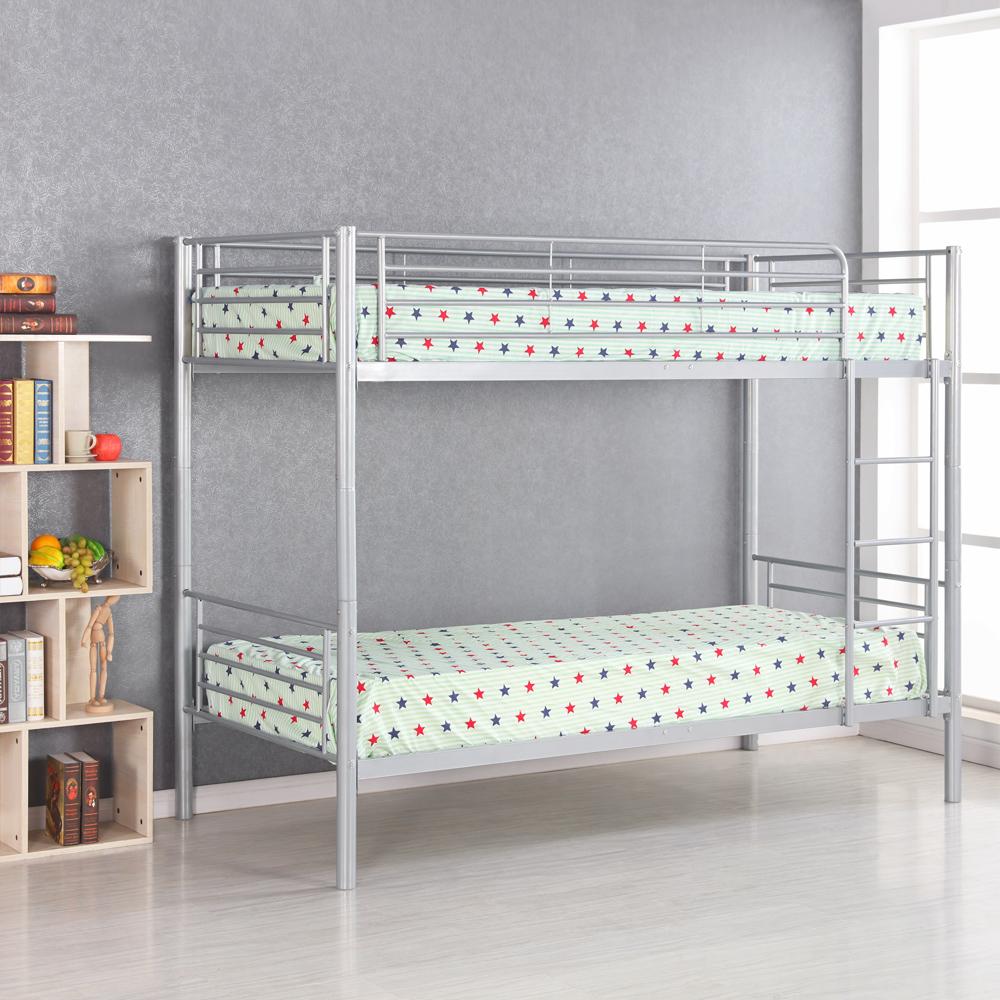 Nur 111.27€, IKayaa Modern Single-Over-Single Metall Etagenbett ...