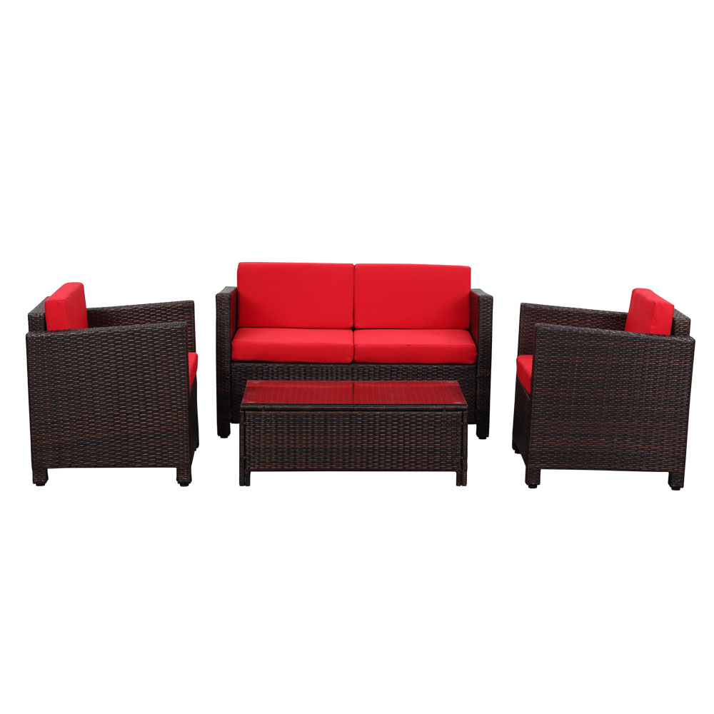 emejing salon de jardin rouge canape pictures amazing. Black Bedroom Furniture Sets. Home Design Ideas