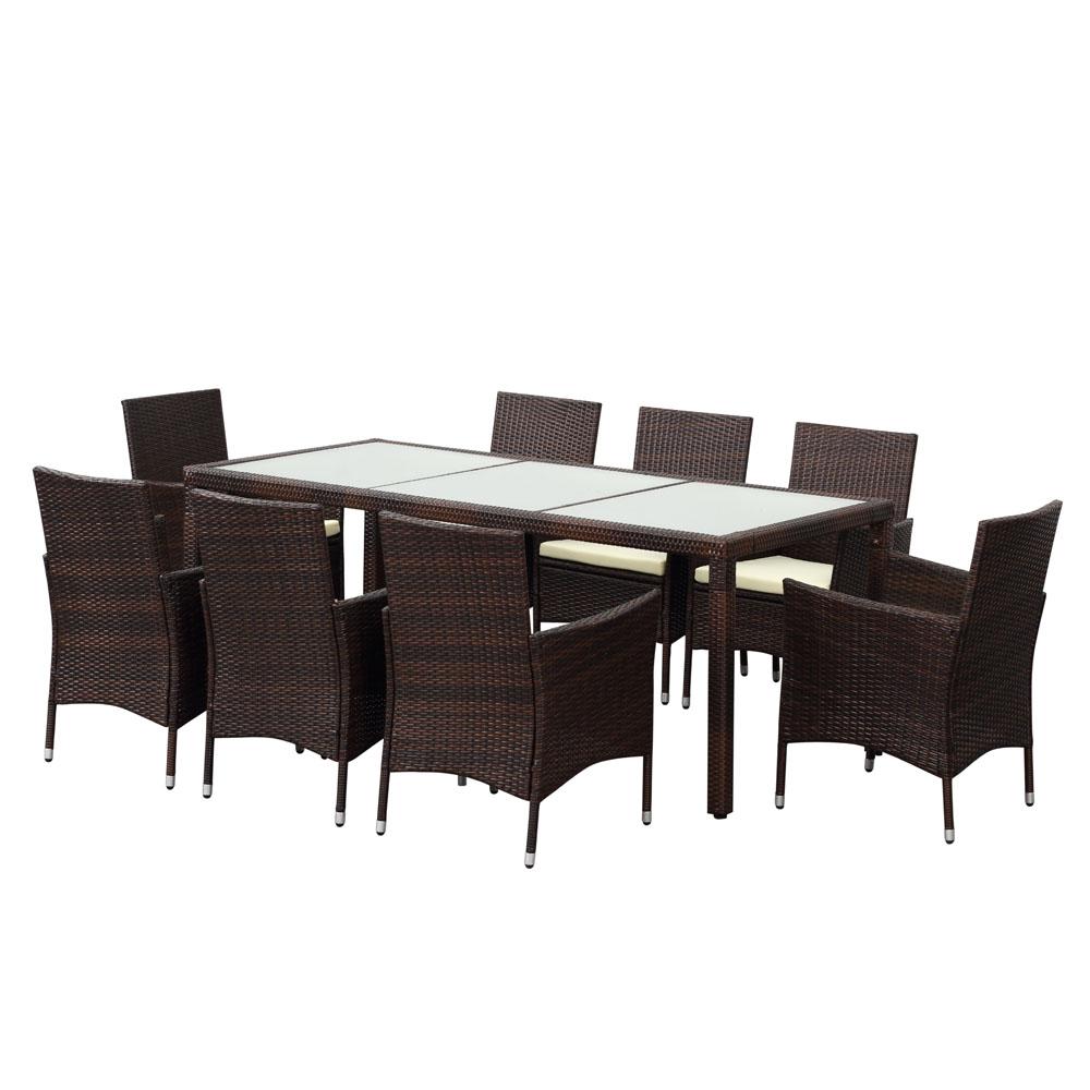 ensemble de jardin ikayaa 8 places. Black Bedroom Furniture Sets. Home Design Ideas