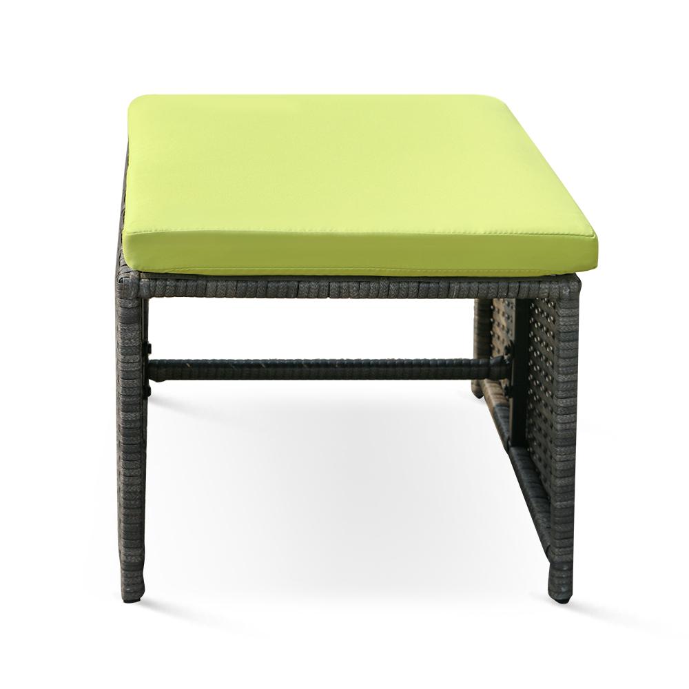 nur ikayaa 11pcs 10 seater rattan patio garten esstisch st hle grau set. Black Bedroom Furniture Sets. Home Design Ideas