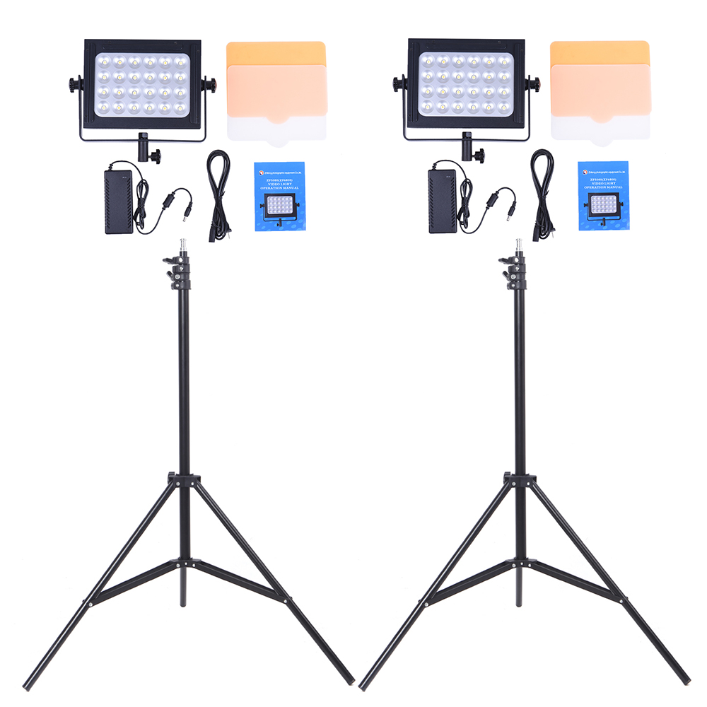 Photography 24 Led Studio Lighting Kit W 2 Zf 5000 Dimmable Ultra Diagram High