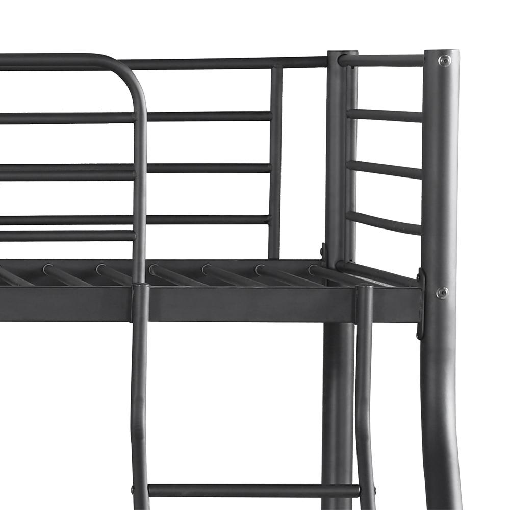 Sólo 258.29€, iKayaa Twin-Over-Full marco de la litera de metal ...